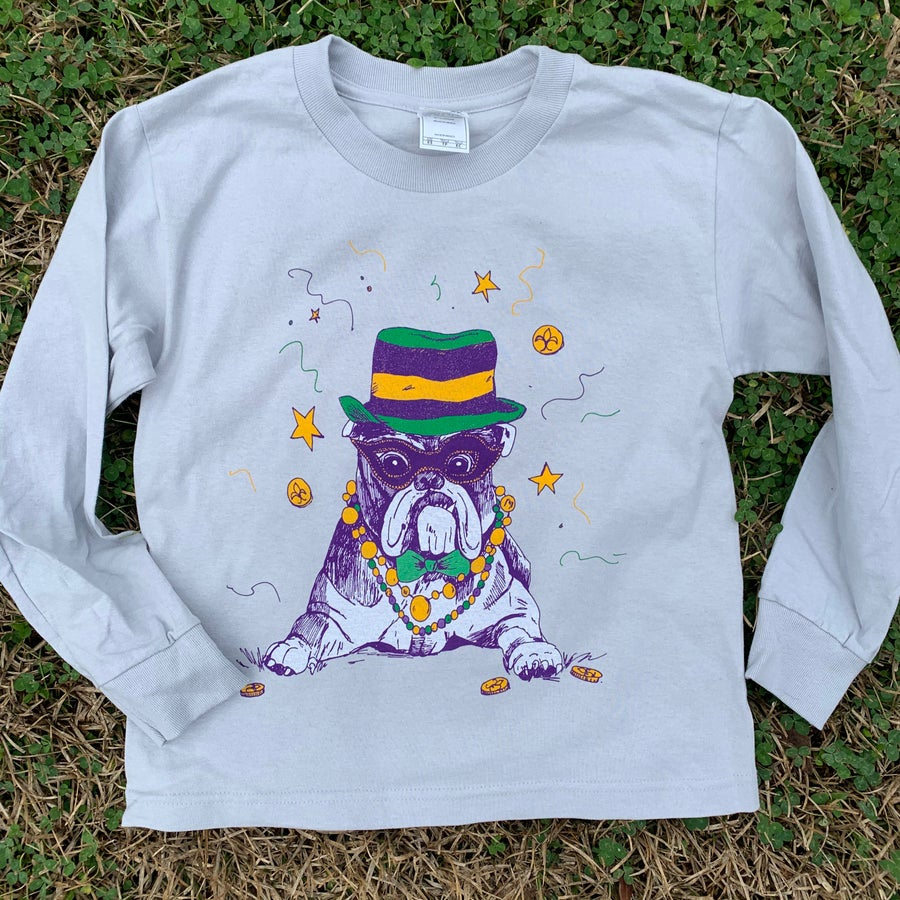 Image of Youth Mardi DAWG (bulldog) long sleeve tee
