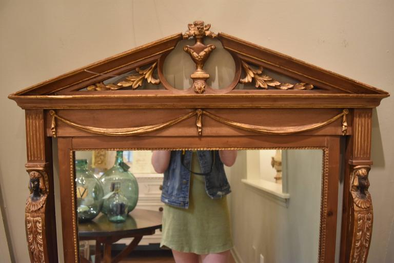 Image of Early 20th Neoclassical Style Mirror