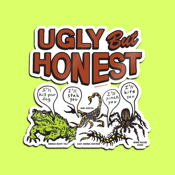 "Image of ""Ugly But Honest"" - 4"" x 4"" Sticker"
