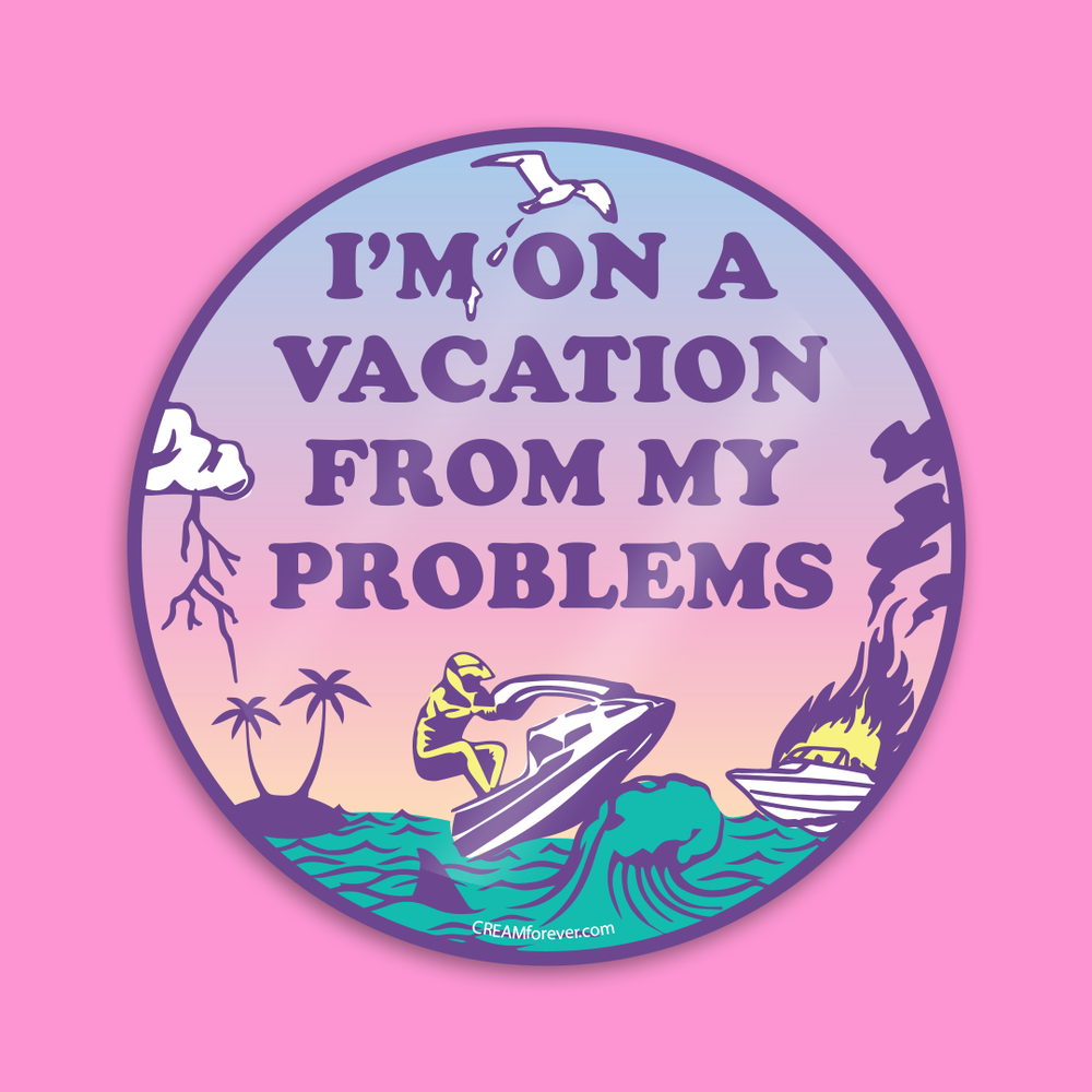 "Image of ""VACAY"" - 4"" x 4"" Sticker"