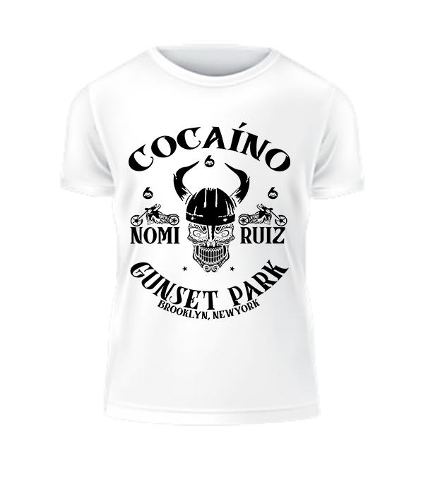 Image of White 'Cocaíno' MC Tee