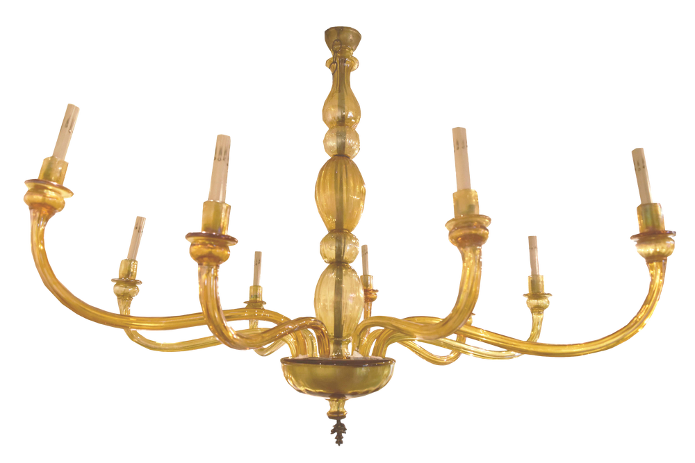Image of Mid-Century Venetian Murano Glass Chandelier