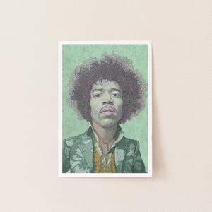 Image of Jimmy Hendrix illustration portrait.