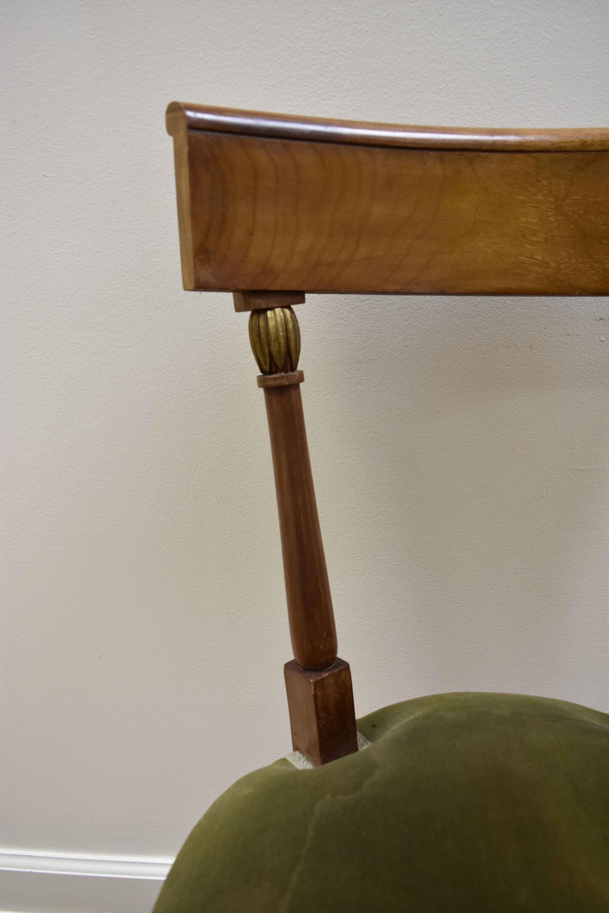Image of Set of 6 French Walnut Directoire Style Chairs