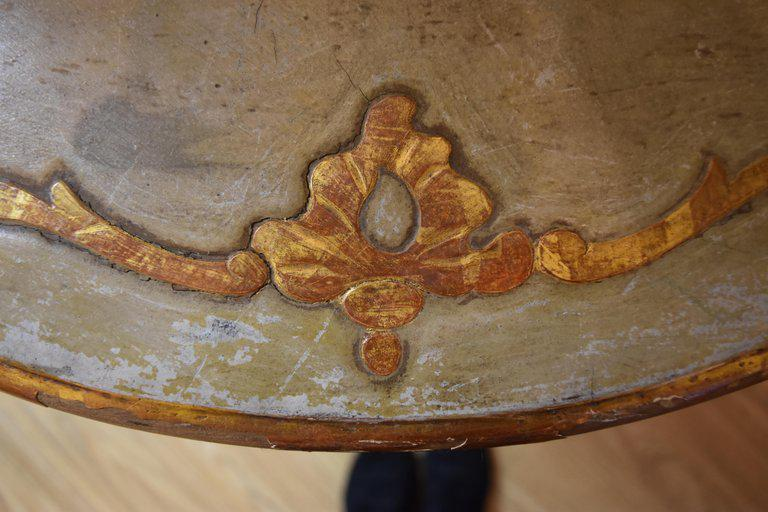 Image of 19th Century Italian Painted and Polychromed Console With Splayed Hoof Feet