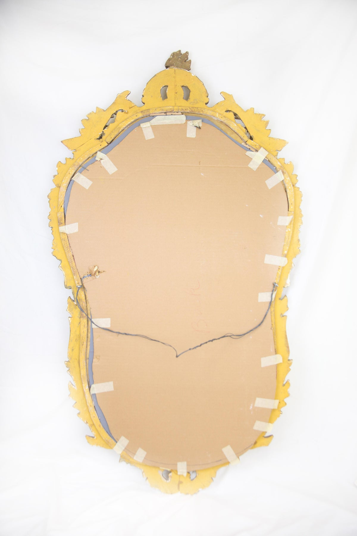 Image of Antique Water Gilt Floral Design Mirror