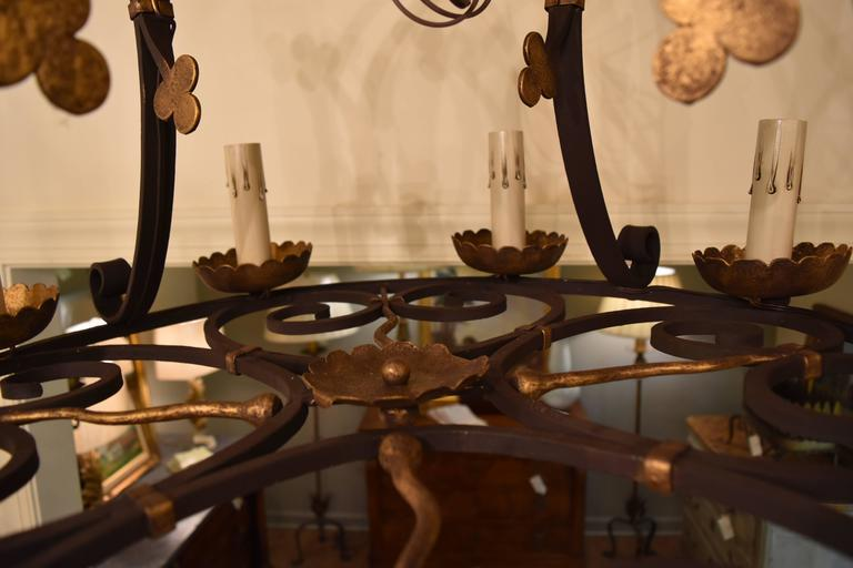 Image of Early 20th Century Iron Chandelier From Barcelona