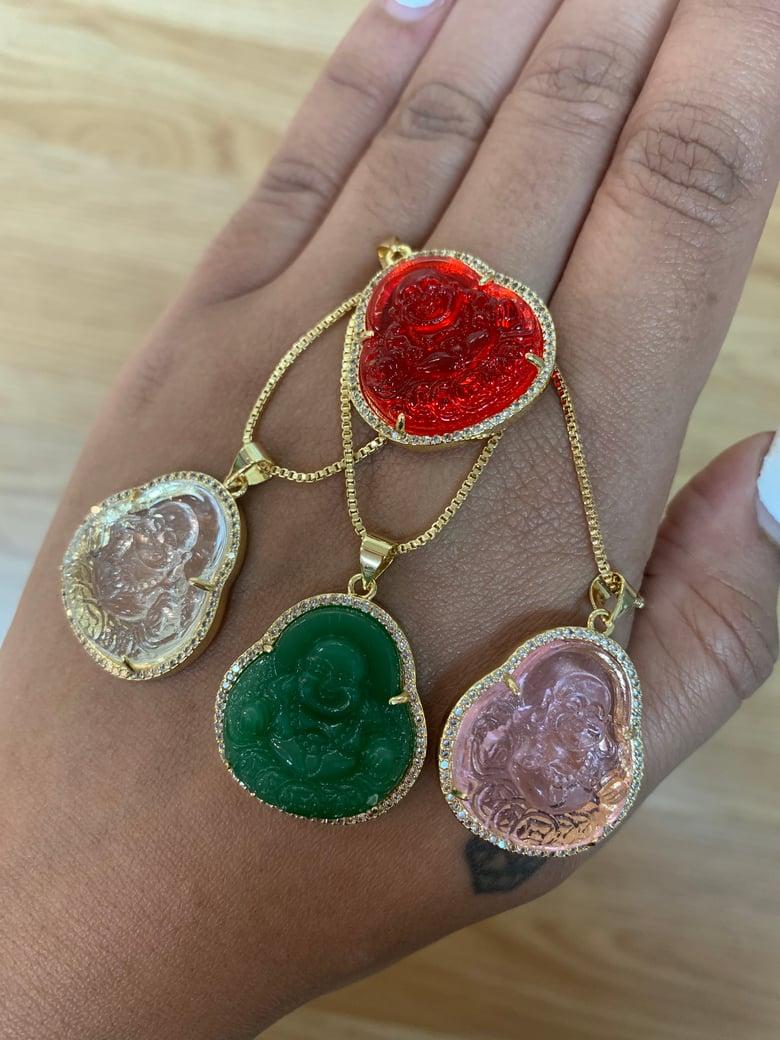 Image of Glass Buddha necklaces