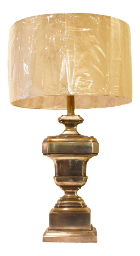 Image of Vintage French Silvered Bronze Lamp
