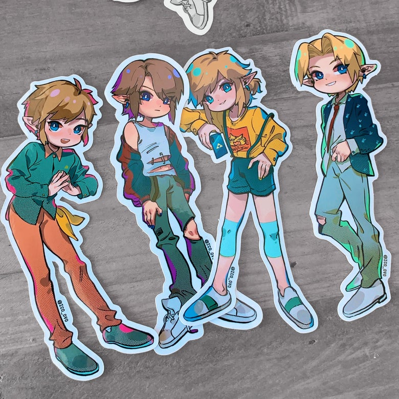 Image of Idol Link Sticker Set / zelda
