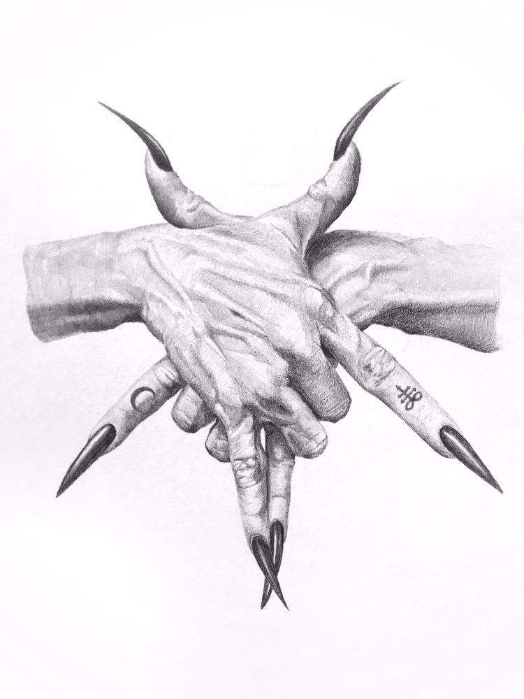 Image of Pentagram Hands 16 x 20 inch giclée print