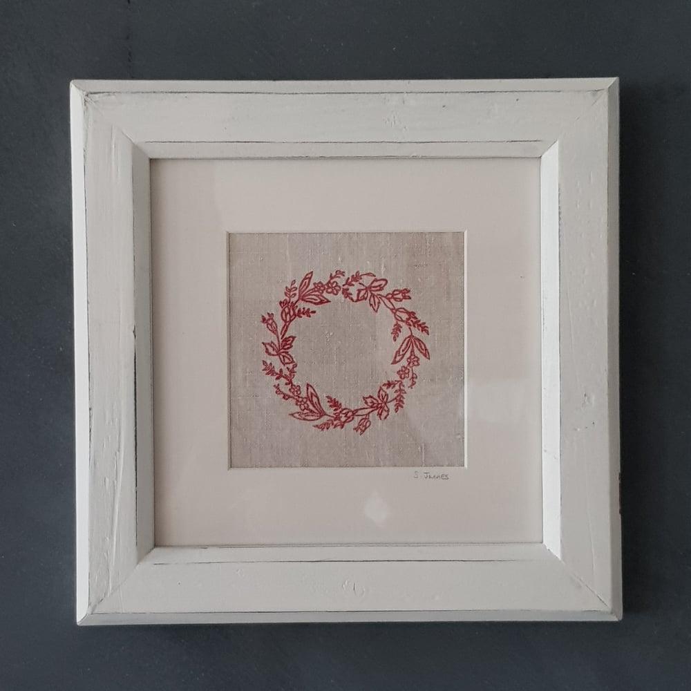 Image of Wreath Print Framed