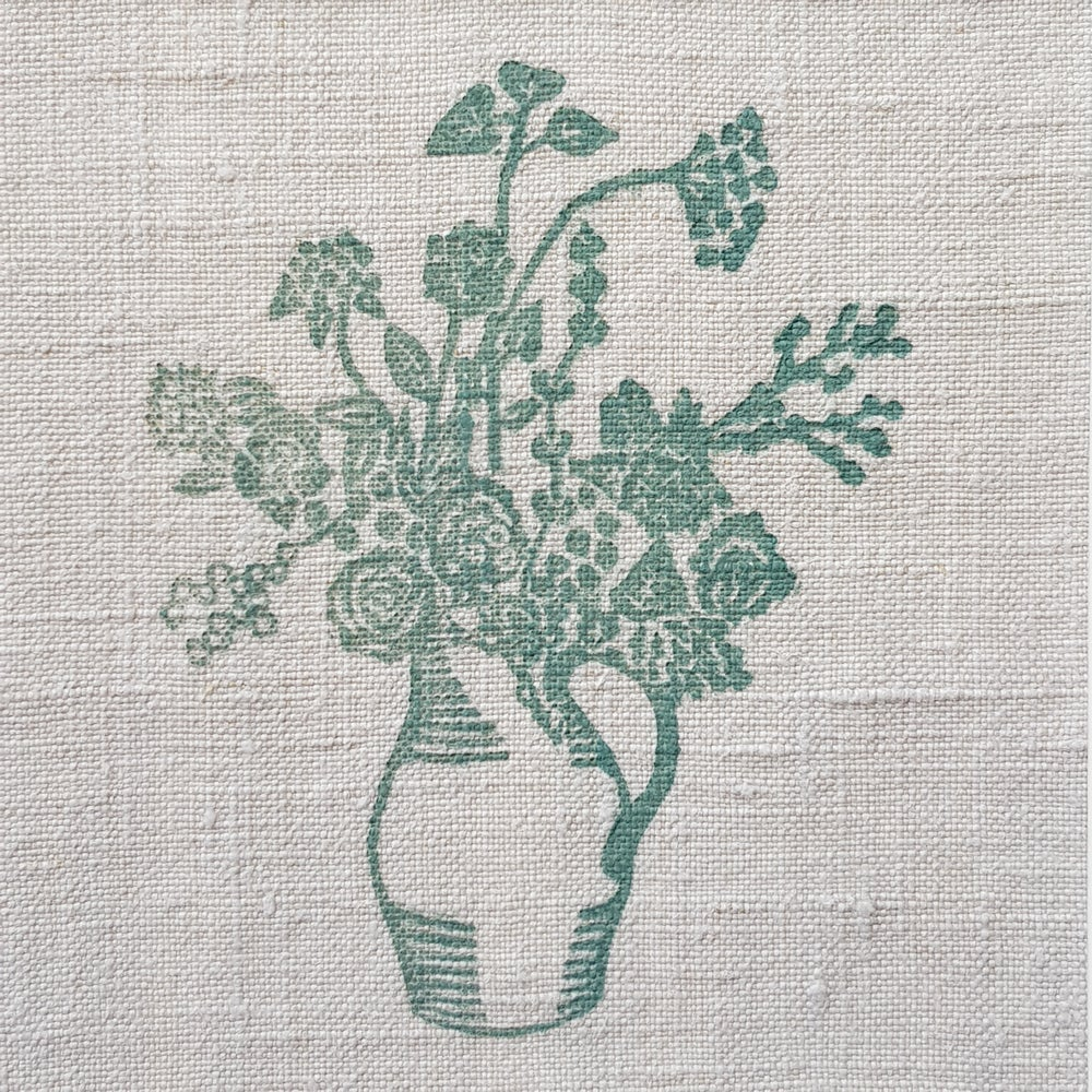 Image of Green Jug of Flowers - Mounted