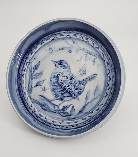 Image of Cobalt Wren Porcelain Rimmed Platter
