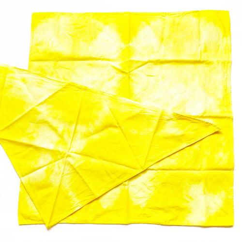Image of BFF BANDANAS - Set of 2 Hand Dyed Yellow Bandanas for Human & Dog Besties