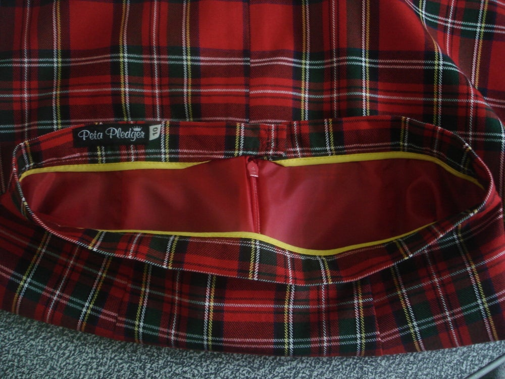 Image of 'Lula' mini skirt in Tartan
