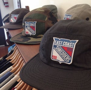 Image of 550xDOMESTICS. East Coast Shredder 5 Panel hats