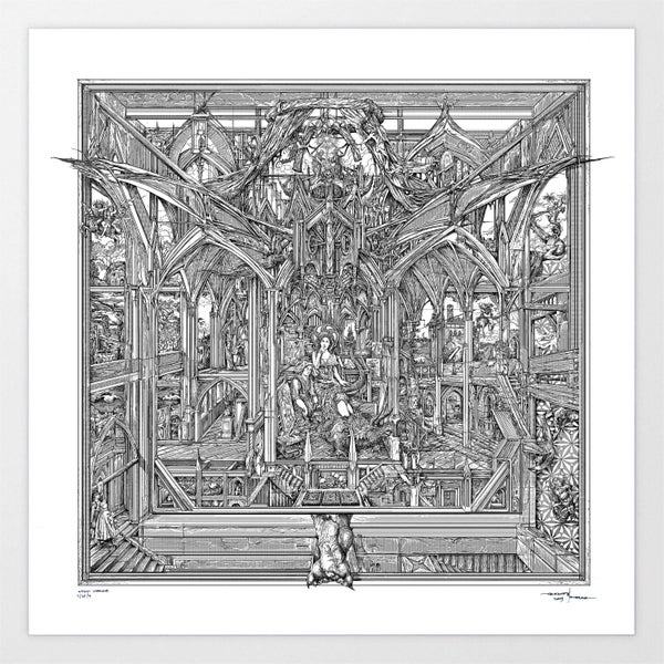 Image of GHOST WITCH IMAGE limited artprint (PREORDER)