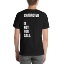 "Image of Nachami with ""Character Is Not For Sale"" back quote (unisex sweatshirt/unisex t-shirt)"