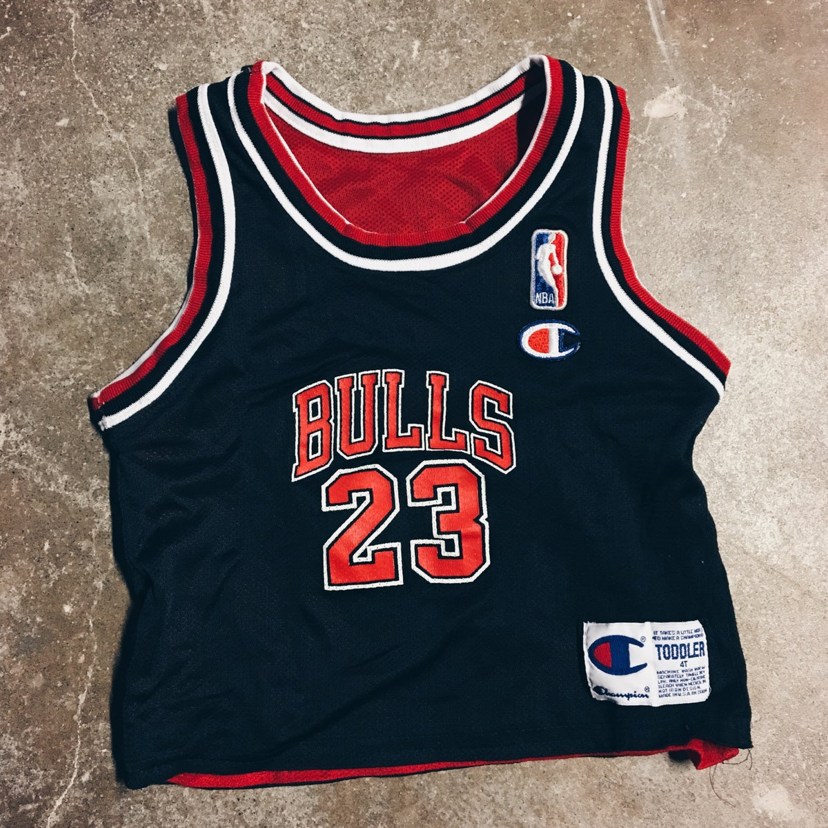 Image of Original 90s Champion MJ Reversible Toddler Jersey.