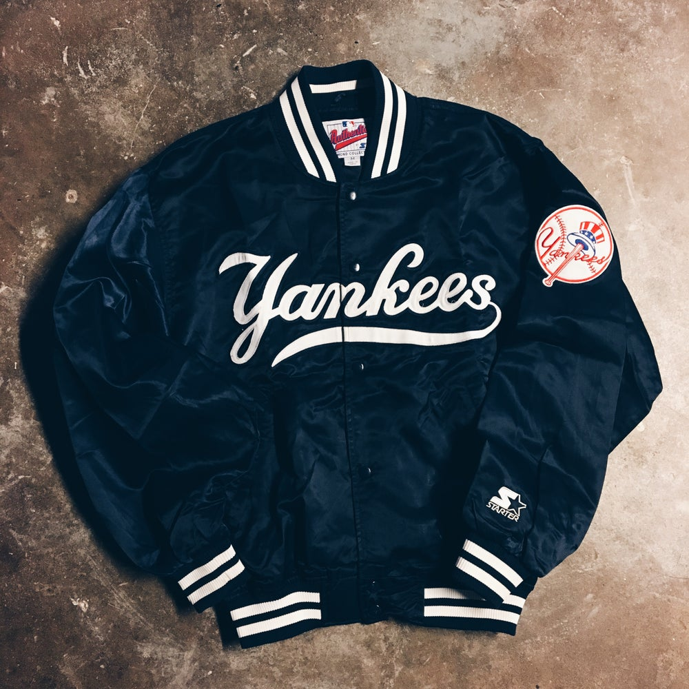 Image of Original 90's Starter Yankers Diamond Collection Jacket.