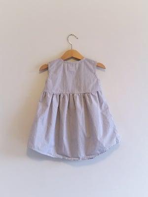 Image of Meadow Dress - Graphite Stripe