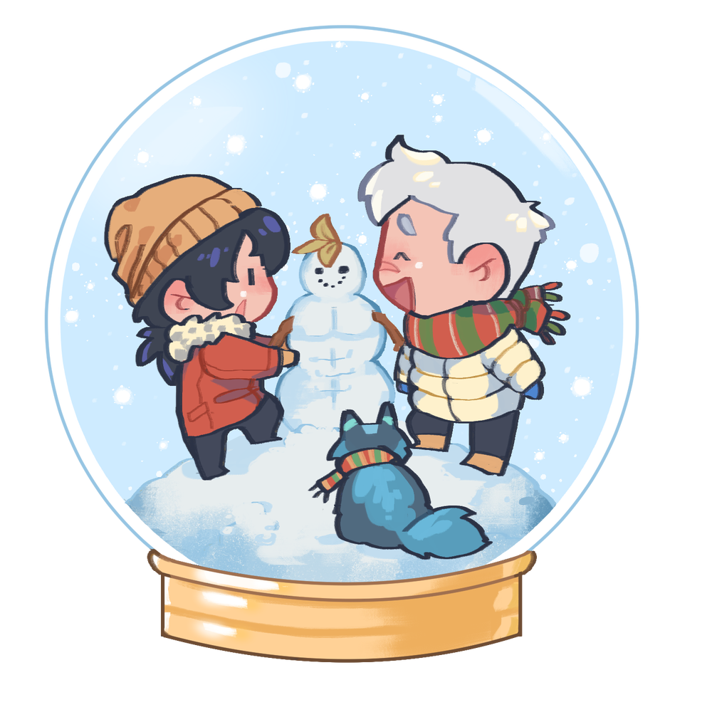 Image of Snowglobe Family Sheith Charm