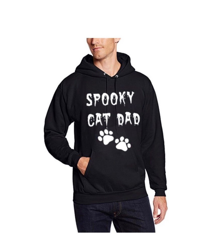 Image of Spooky Cat Dad Unisex Pullover Hoodie
