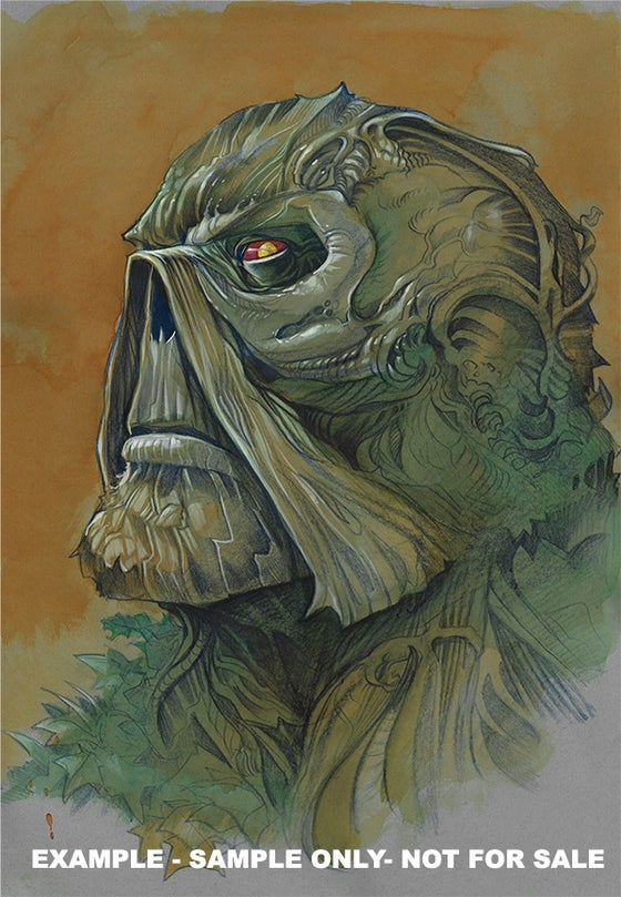 Image of GIANT-SIZED BUST! Custom 18x24 Large Format Painted Commission!