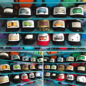 Image of Train/Truck/Billboard/Dumpster/Wall/Van hat.