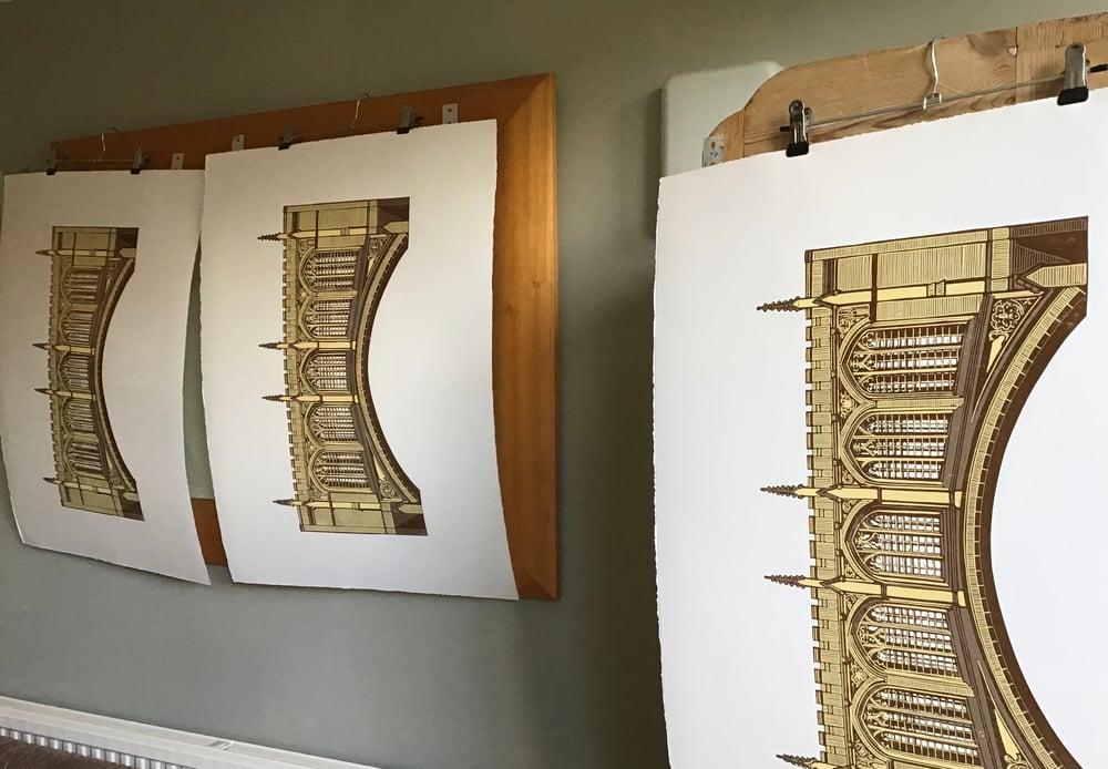 Bridge of Sighs linocut print