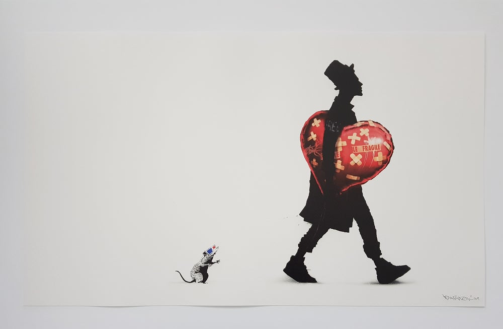 "Image of KENNY RANDOM  ""THE COLLECTOR"" (BANKSY) - 70CM X 42CM"