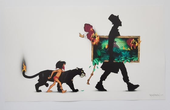 "Image of KENNY RANDOM ""THE COLLECTOR"" (JUNGLE BOOK) - 70CM X 42CM"