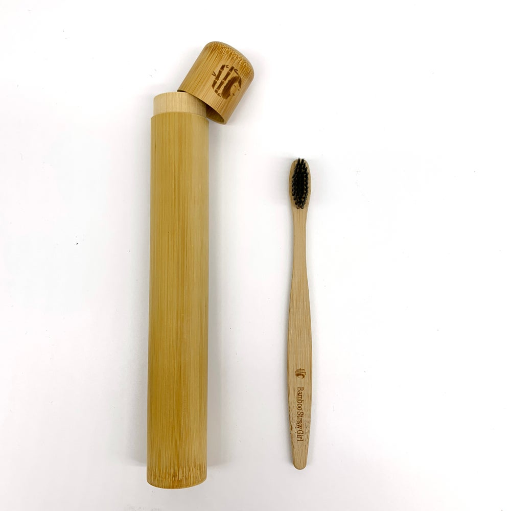 Image of Bamboo toothbrush and Tube