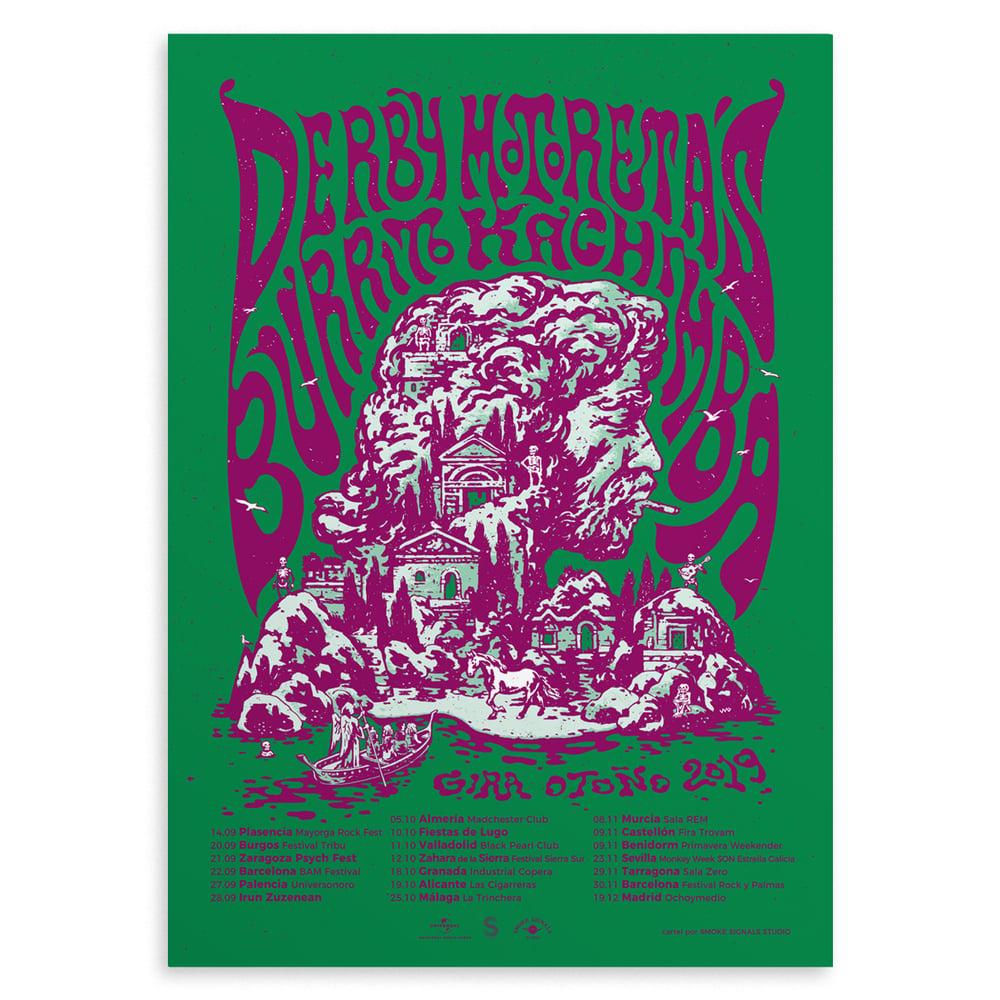 Image of 'DERBY MOTORETA´S BURRITO KACHIMBA' Poster (Green variant)