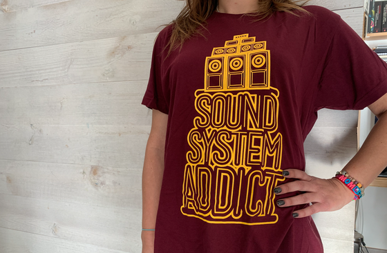 Image of SOUND SYSTEM ADDICT BURGUNDY YELLOW