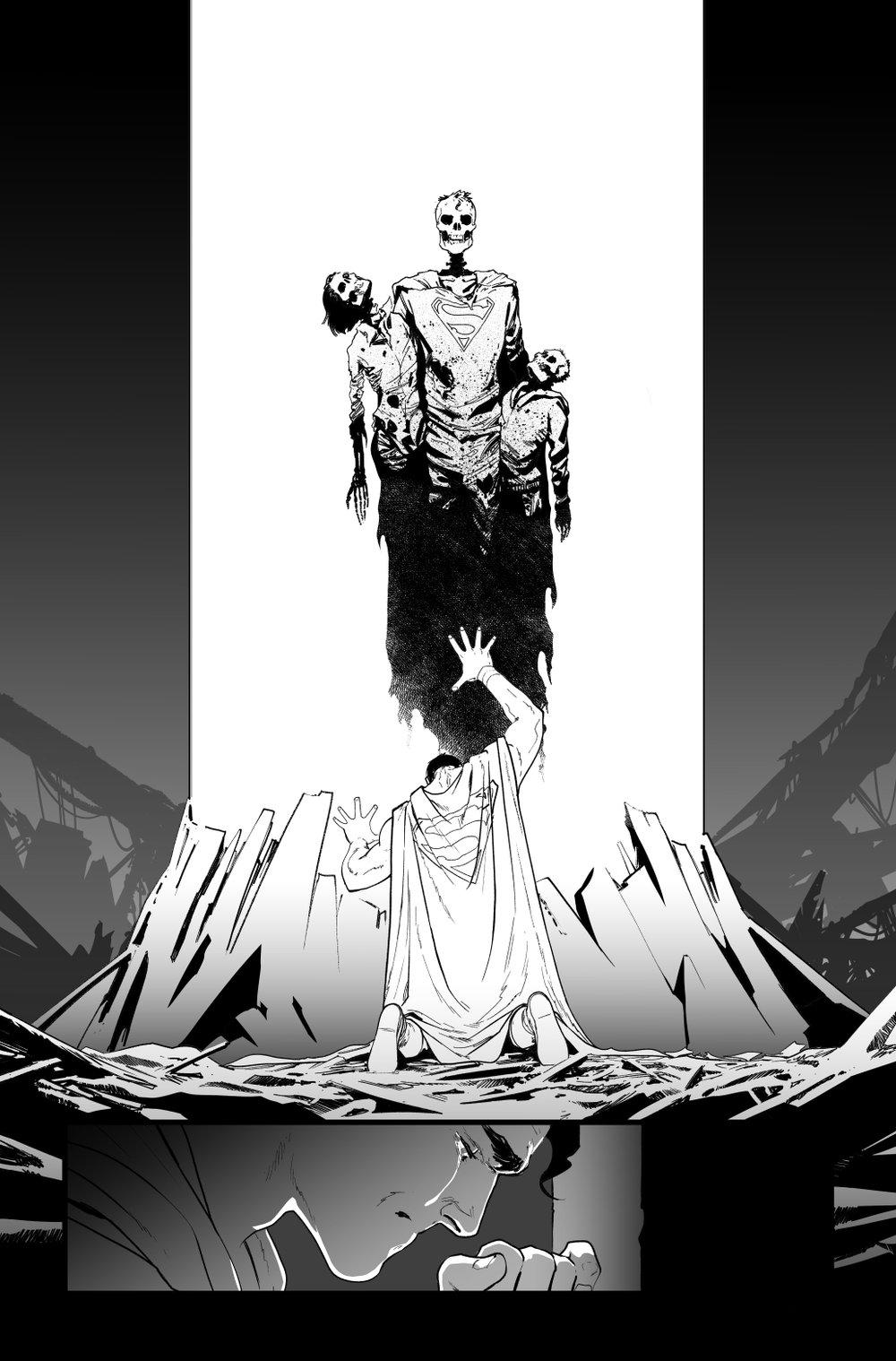 Image of BATMAN/SUPERMAN #5 p.08 ARTIST'S PROOF