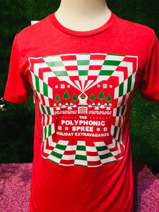 Image of Red ugly Christmas adult shirt