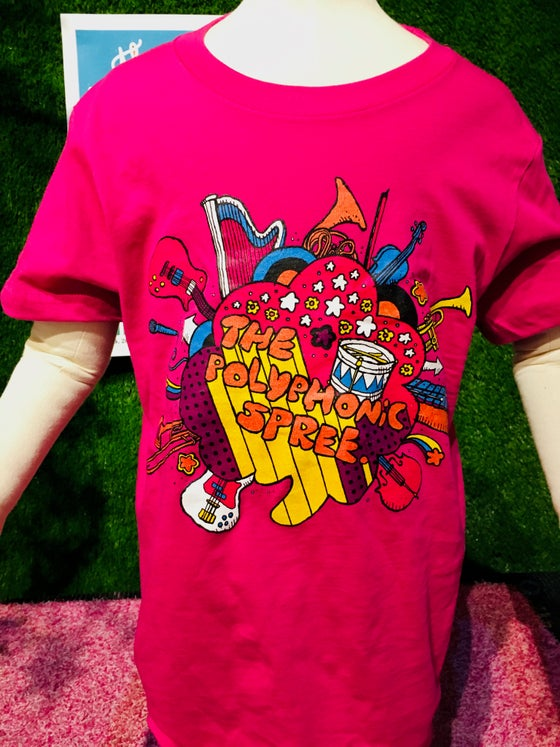 Image of Youth pink instruments shirt