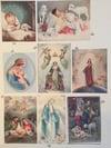 Impression sur tissus images pieuses la vierge Marie et Noël