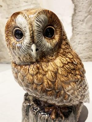 LARGE OWL VASE.