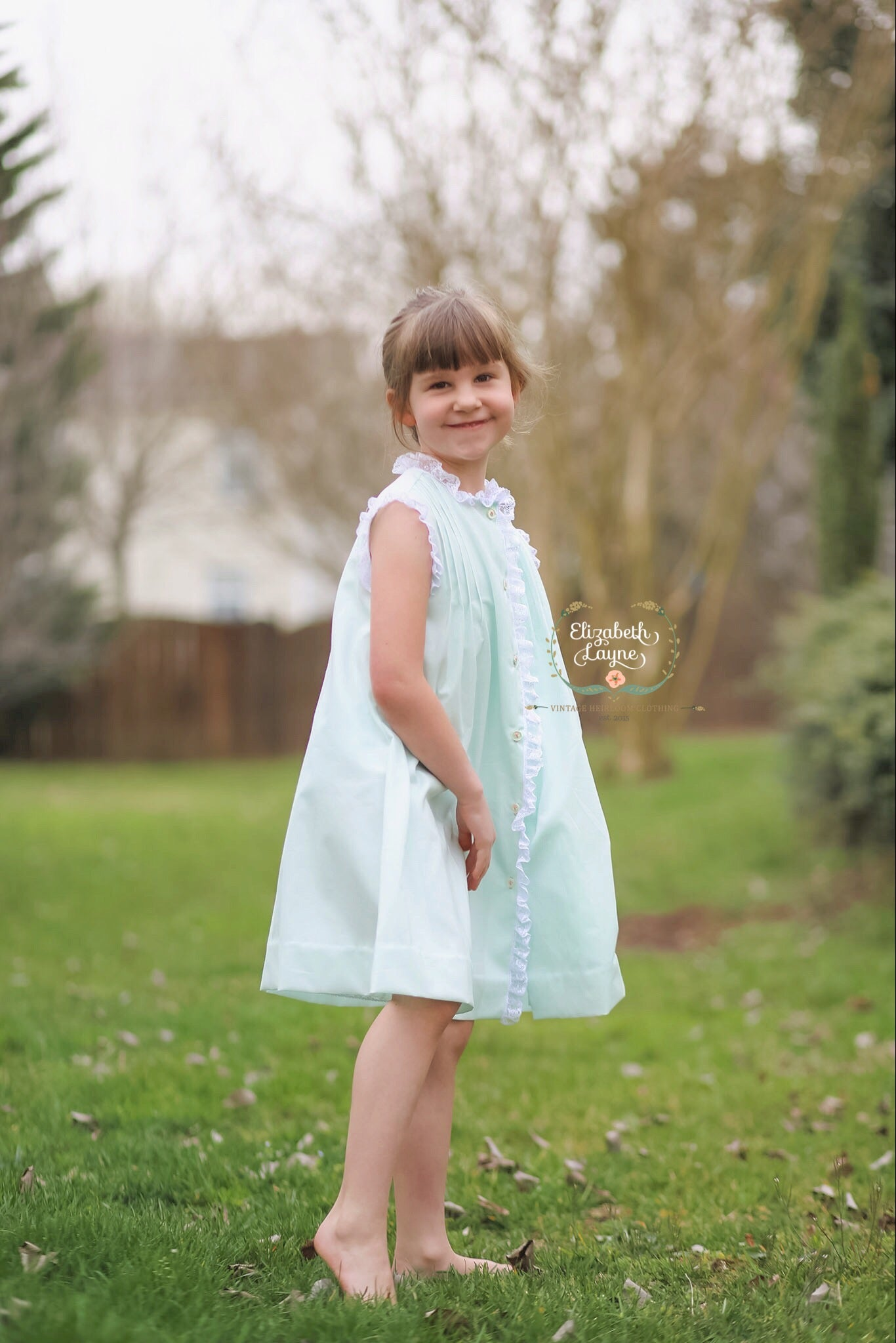 Image of Caroline Tuck Heirloom Dress