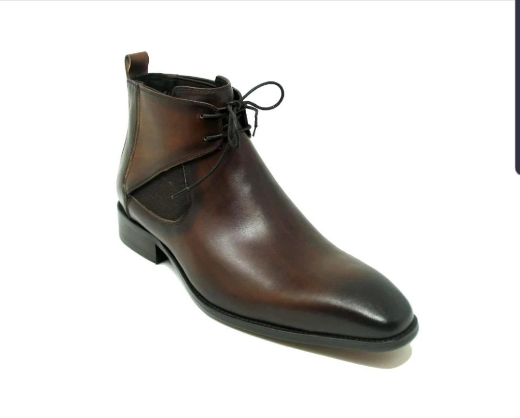 Image of CARRUCCI CALFSKIN LACE UP  CHUKKA BOOT