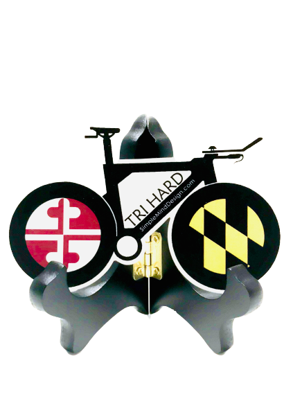 Image of Tri Hard Maryland Triathlon Bike Sticker