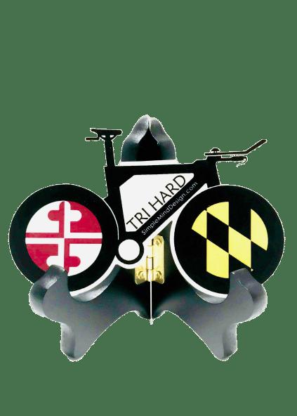 Image of Tri Hard Maryland Triathlon Bike Sticker