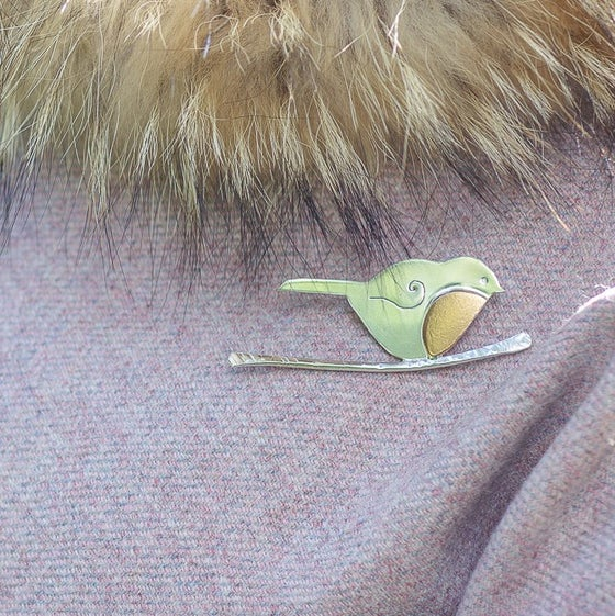Image of Robin Brooch