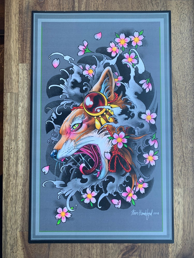 Image of Kitsune Print by Rich Handford
