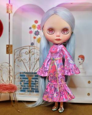 Image of Lounging Linda Susie Dress ~ Neon Pink
