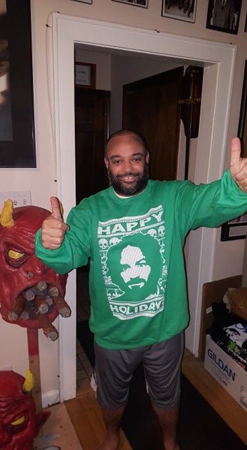 Image of CHARLIE HAPPY HOLIDAYS SWEATER (IN STOCK)