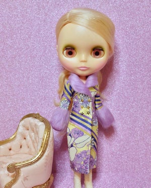 Image of LoungingLinda Duchess Coat ~ Lilac & Gold